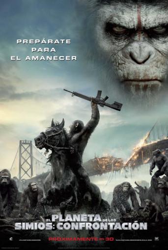 el planeta delos simios confrontacion